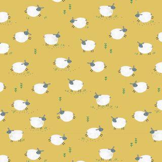 Sheep on Ochre Yellow | Farm Days Collection | Dashwood Studio