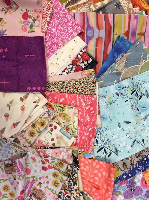 "Reticule Fabrics - 10 x 2.5"" strips"