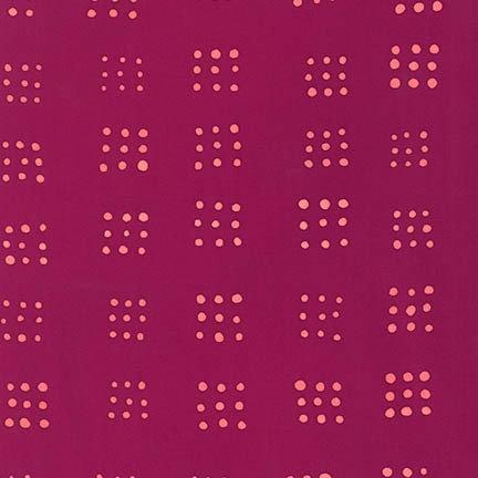 Dots in Raspberry | Mark to Make Collection | Robert Kaufman Fabrics
