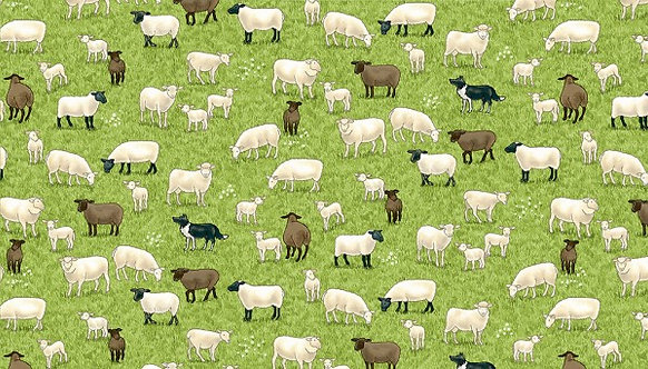 Sheep on Grass | Village Life Collection | Makower UK
