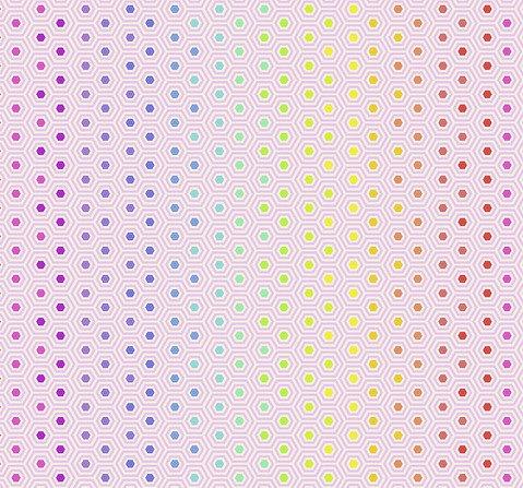 Hexi Rainbow Shell   Tula Pink True Colors Collection   Free Spirit Fabrics