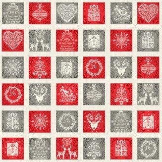 Scandi Squares  | Christmas 2019 - Scandi Collection | Makower UK