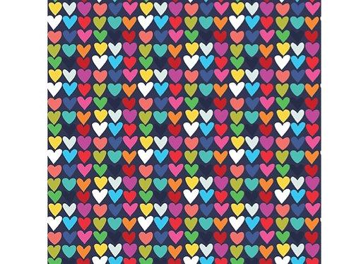 Tiny Hearts on Navy | Happy! Collection  | Clothworks