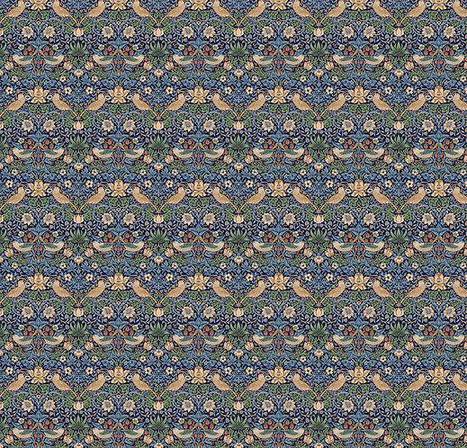 Strawberry Thief Navy | The Original Morris Collection | Free Spirit Fabrics