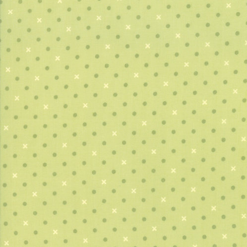 Spot and Cross in Sprout | Bramble Cottage by Brenda Riddle | Moda Fabrics