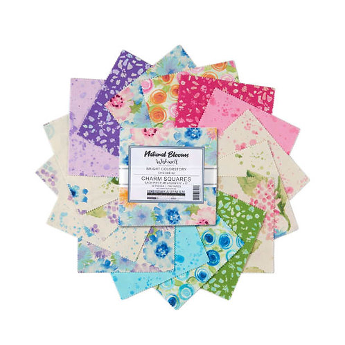 Natural Blooms Bright Charm Pack | Natural Blooms by Wishwell | Robert Kaufman