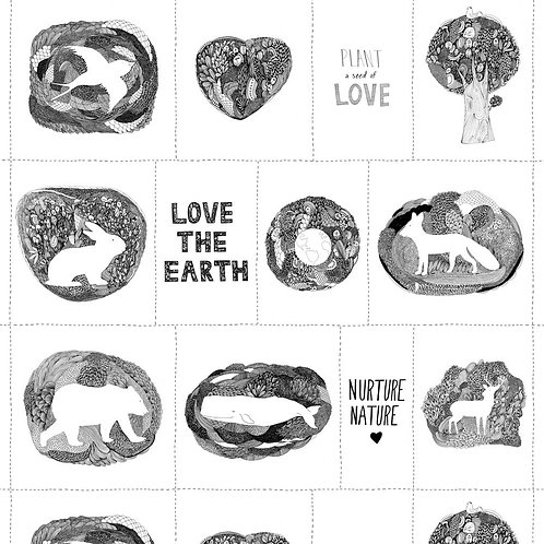 Panel | Love the Earth | Windham Fabrics