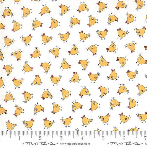 Little Chickens on Cream   Spring Chicken Collection   Moda Fabrics