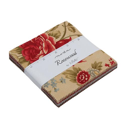 "Rosewood - 5"" Charm Pack by Moda Fabrics"