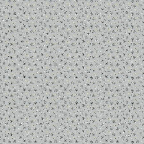 Dandelion Seeds on Grey | Woodland Songbirds Collection  | Nutex Fabrics
