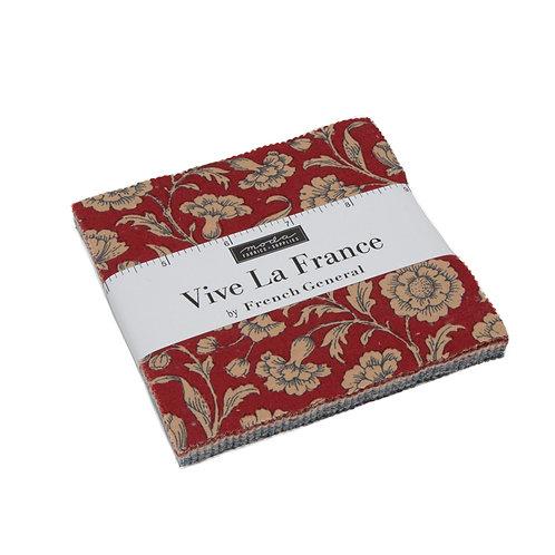 "Vive La France - 5"" Charm Pack by Moda Fabrics"