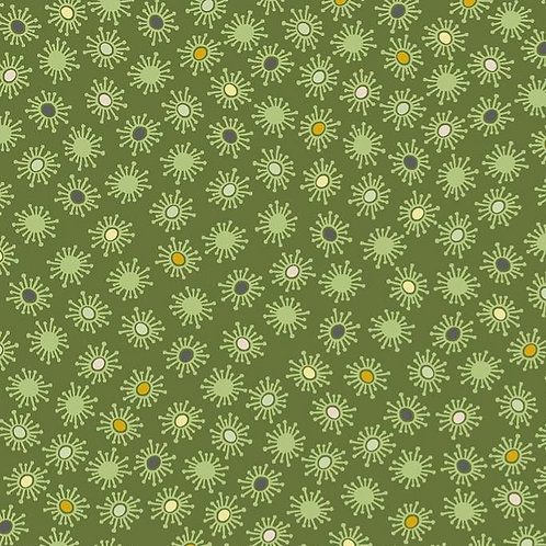 Small Flowers on Green | Blooming Garden Collection | STOF Fabrics