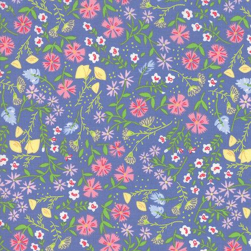 Spring Meadow Periwinkle | Summer Picnic by Stacy Iest Isu | Moda Fabrics