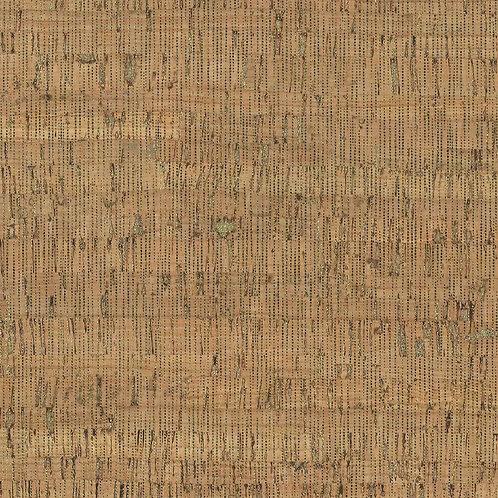 Small Stripes Cork Natural | Cork Natural Metallic Collection | STOF Fabrics