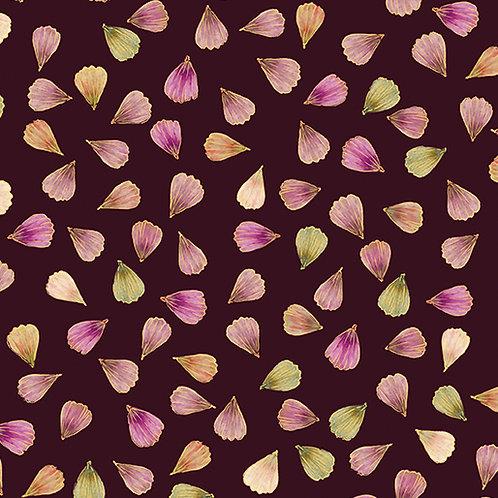 Pressed Petals in Plum | Floral Impressions Collection | Kanvas Studio/Benartex