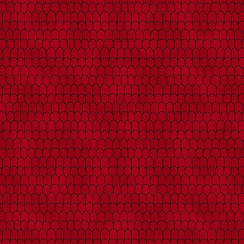 Scales in Red | Basic Twist | STOF Fabrics
