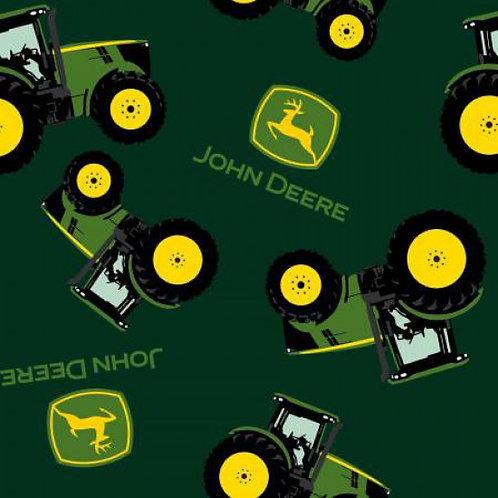 Tractors on Dark Green | John Deere Collection  | Nutex Fabrics
