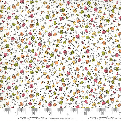Scattered Flowers on Cream   Spring Chicken Collection   Moda Fabrics