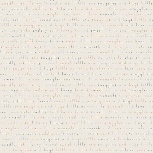 Words in Cream   Joey Collection   Riley Blake Designs