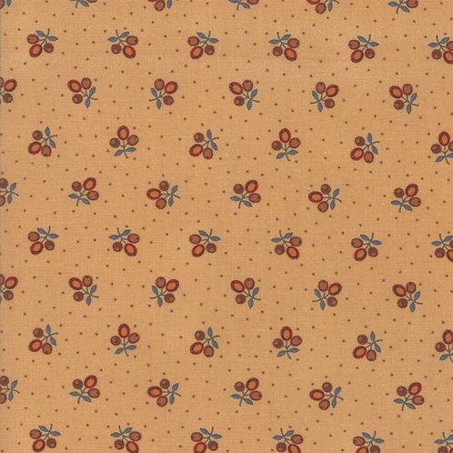 Tiny Flower Sprig on Light Gold | Lancaster by Jo Morton | Moda Fabric