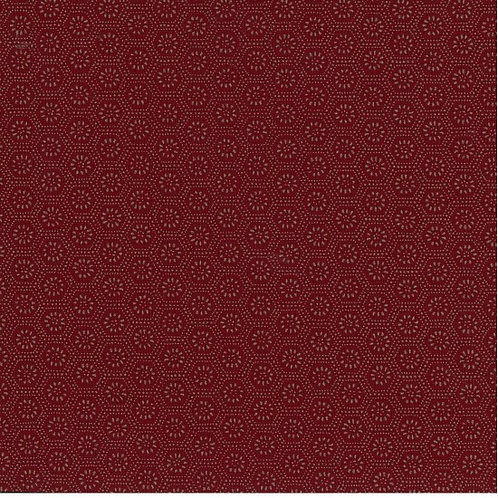 Kuki Circles on Dark Red | Japanese Prints Collection | Nutex