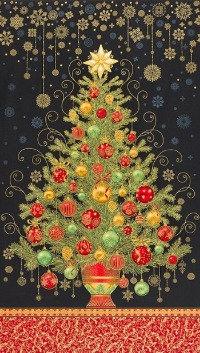 Dazzling Tree Black | Holiday Flourish | Robert Kaufman