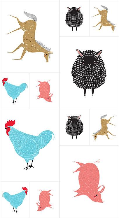 Farm Charm Panel | Farm Charm by Gingiber | Moda Fabrics