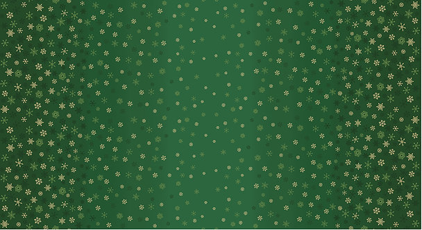 Ombre Snowflakes on Green | Ombre Christmas Collection | Makower