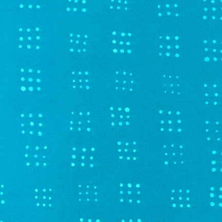 Dots in Turquoise | Mark to Make Collection | Robert Kaufman Fabrics