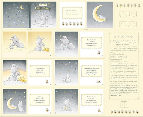 Little Star Book Panel | Bunnies by the Bay | Clothworks