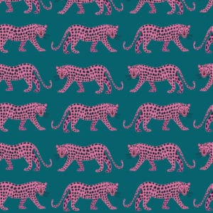 Leopards on Teal | Night Jungle Collection | Dashwood Studio