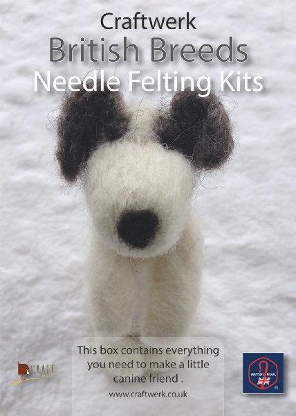 Little Dog Needle felting kit |  British Wool Collection | Craftwerk