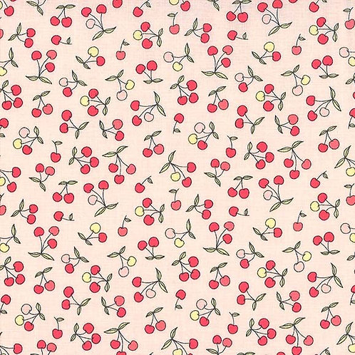 Petites Cerises in Cherry | Strawberry Tea Collection | Michael Miller Fabrics