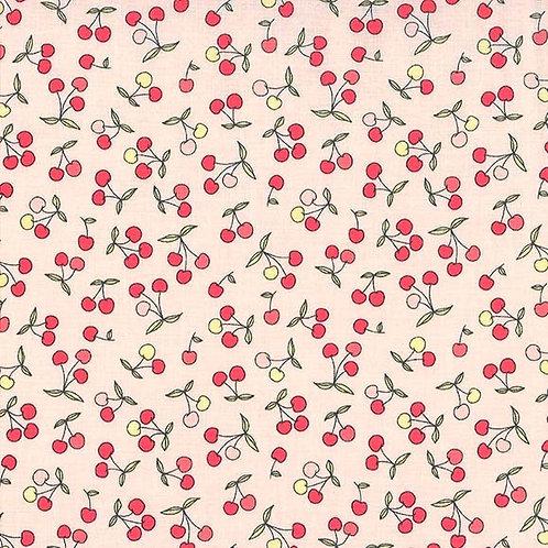 Petites Cerises in Cherry | Strawberry Tea Collection| Michael Miller Fabrics