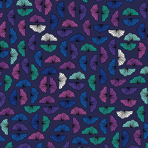 Petals - Black | Roadside Flowers | STOF Fabrics