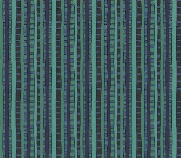 Irregular Stripes Navy/Teal  | Fantasy Collection | Windham Fabrics