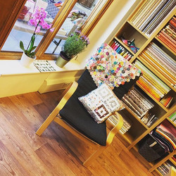 Come in for a browse and, if it gets too much, have a sit down! #reticulefabrics #quilting #localsew