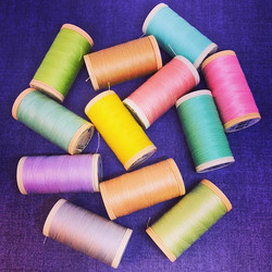 Sunny colours on a grey day! #reticulefabrics #kendal #shoplocal #coatsthreads #colours