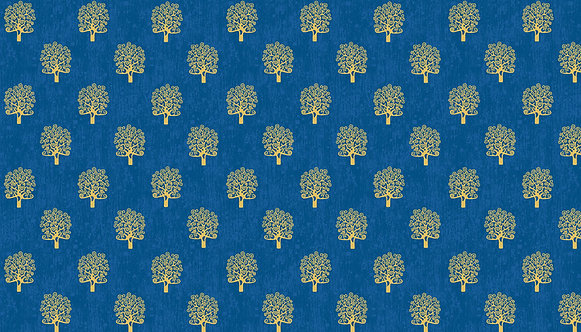 Trees in Blue | RhapsodyCollection | Makower UK