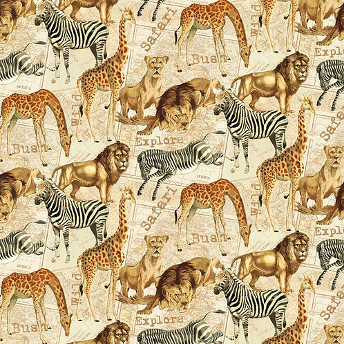 African Animals | Expedition Collection | Windham Fabrics
