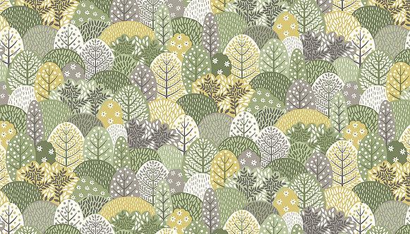 Trees on Green | Clara's Garden Collection | Makower UK