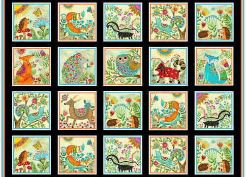 Spring Awakens Block Panel | Spring Awakens Collection | Henry Glass & Co