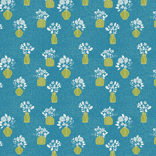 Floral Arrangement on Blue | Hand Picked Collection | Sweet Bee Designs