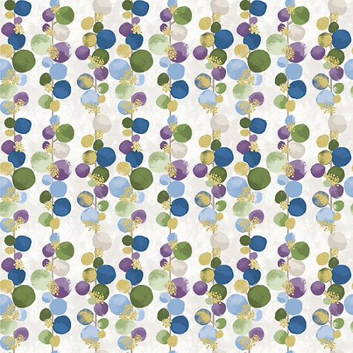 Bloom Dot Vine in Orchid/Gold | Mixed Metals Collection | Hoffman Fabrics