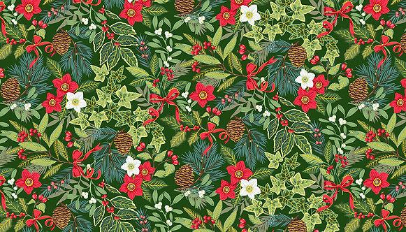 Yuletide Foliage Green | Yuletide Collection | Makower