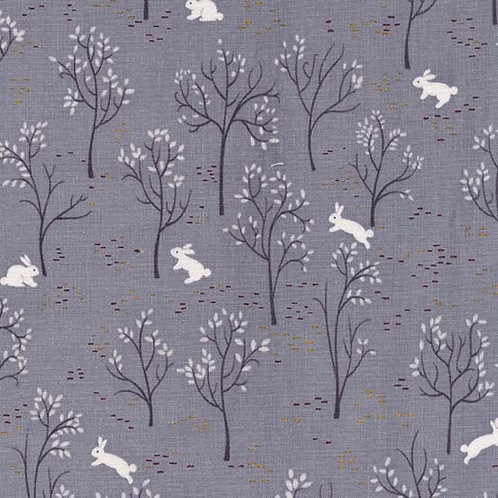 Bunny Trail in Fog | Into The Woods Collection | Michael Miller Fabrics