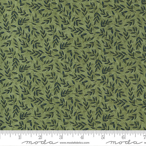 Scattered leaves - Celery   Violet Hill Collection   Moda Fabric