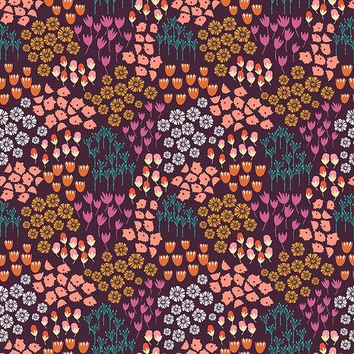 Flower Garden on Purple | Alexandria Collection | Sweet Bee Designs