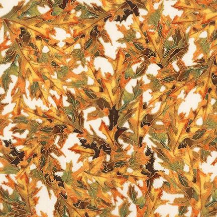 Harvest Fall Leaves   Shades of Season 11   Robert Kaufman Fabrics