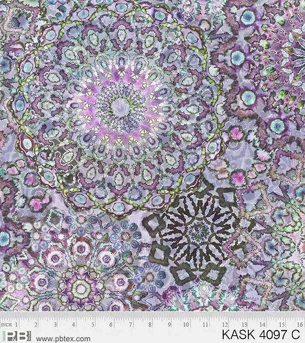 Medallions Green/Purple | Kashmir Kaleidoscope | P&B Textiles